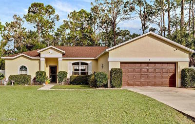 Palm Coast Single Family Home For Sale: 3 Raintree Place