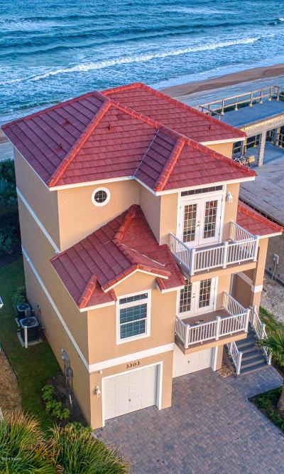 Flagler Beach Single Family Home For Sale: 3303 N Ocean Shore Boulevard