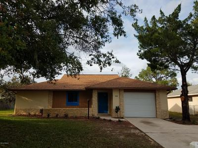 Palm Coast Single Family Home For Sale: 118 Blare Castle Drive