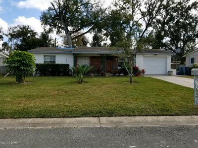 Daytona Beach, Daytona Beach Shores Single Family Home For Sale: 1157 Palm View Drive
