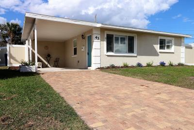Ormond Beach Single Family Home For Sale: 43 Seaview Drive