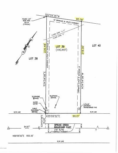 Spruce Creek, Spruce Creek Estates, Spruce Creek Farms, Spruce Creek Fly In, Spruce Creek Village Residential Lots & Land For Sale: 1847 Spruce Creek Boulevard