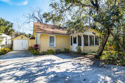 Daytona Beach, Daytona Beach Shores Single Family Home For Sale: 437 Warner Place