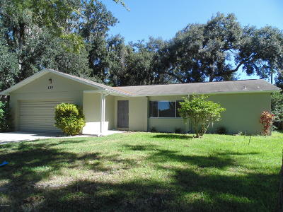 Port Orange Single Family Home For Sale: 135 Brandy Hills Drive