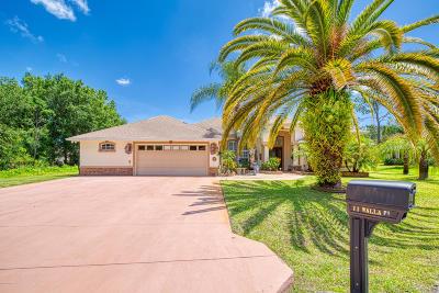 Palm Coast Single Family Home For Sale: 11 Walla Place