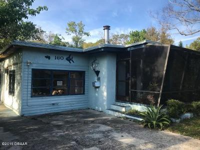 Holly Hill Single Family Home For Sale: 160 15th Place