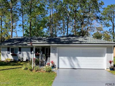 Palm Coast Single Family Home For Sale: 70 Westfield Lane