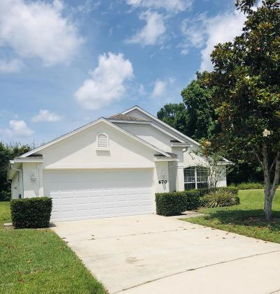 Edgewater Single Family Home For Sale: 670 Coral Trace Boulevard