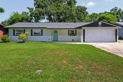 Port Orange Single Family Home For Sale: 209 Cambridge Drive