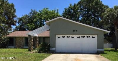 Daytona Beach Single Family Home For Sale: 200 Harpers Ferry Drive
