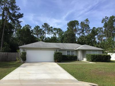 Palm Coast Single Family Home For Sale: 42 Smith Trail