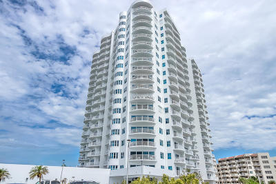 Daytona Beach Shores Condo/Townhouse For Sale: 2 Oceans West Boulevard #1206