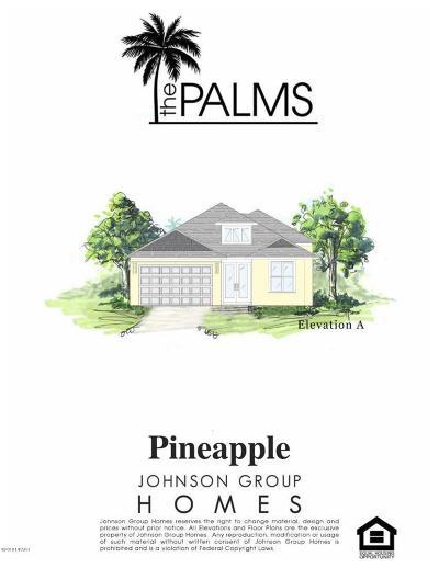 New Smyrna Beach Single Family Home For Sale: 263 Venetian Palms Lot 32 Boulevard