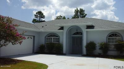 Palm Coast Single Family Home For Sale: 13 Freemont Turn