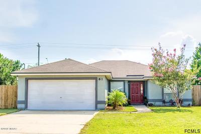 Palm Coast Single Family Home For Sale: 61 Lancelot Drive