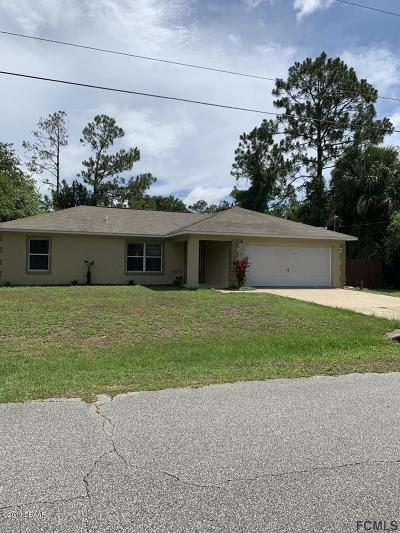 Palm Coast Single Family Home For Sale: 65 Rose Drive