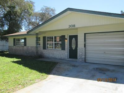 Port Orange Single Family Home For Sale: 308 Jane Ann Street