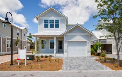 Santa Rosa Beach Single Family Home For Sale: 90 Grayton Boulevard #Lot 23