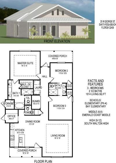 Point Washington Single Family Home For Sale: Lot 25 Georgie Street