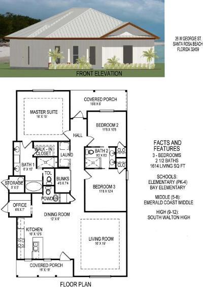 Point Washington Single Family Home For Sale: Lot 26 Georgie Street