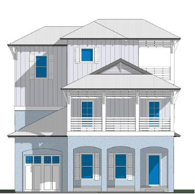 Inlet Beach Single Family Home For Sale: Lot 14 Lake Mist Road