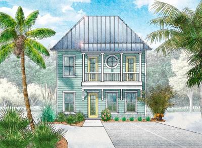Santa Rosa Beach Single Family Home For Sale: Lot 19 Magical Place
