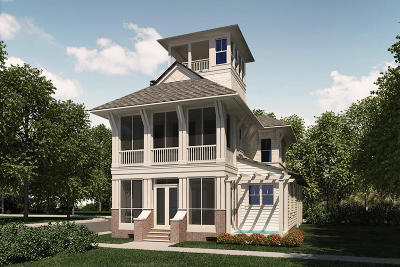 Inlet Beach Single Family Home For Sale: Lot 20 Grace Point Way
