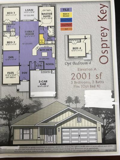 Fort Walton Beach Single Family Home For Sale: Lot 4 Wyatt Way
