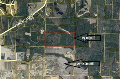 Defuniak Springs Residential Lots & Land For Sale: 80AC No Street Access