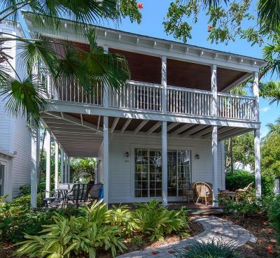 Key West Single Family Home For Sale: 63 Sunset Key Drive