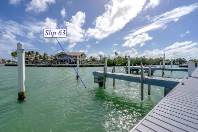 Big Pine, Big Pine Key, Conch, Duck, Key Colony, Key Colony Beach, Layton, Long Key, Marathon, No Name, Summerland, Summerland Key Boat Slip For Sale: 12399 Overseas Highway #Slip 63