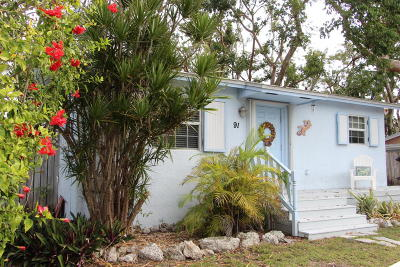 Key Largo Single Family Home For Sale: 91 Treasure Boulevard