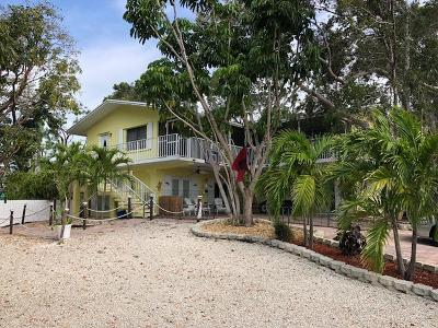 Key Largo Single Family Home For Sale: 397 Pompano Drive