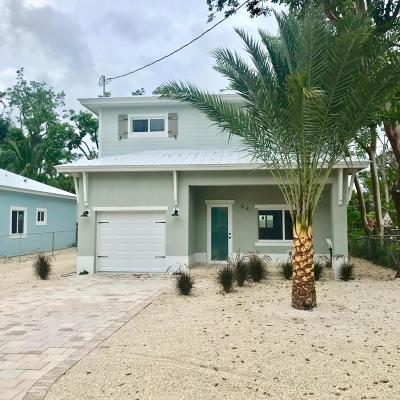 Key Largo Single Family Home For Sale: 54 Tina Place