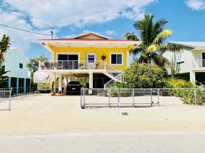 Key Largo Single Family Home For Sale: 126 Ocean Shores Drive