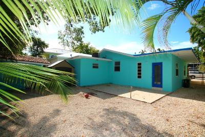 Key Largo Single Family Home For Sale: 67 Jewfish Avenue
