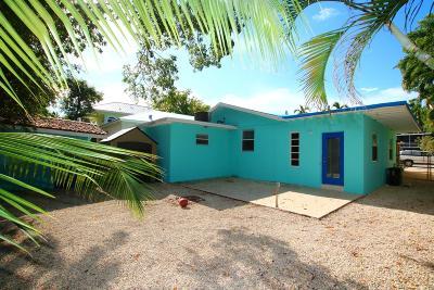 Key Largo Single Family Home For Sale: 67 Jewfish Avenue