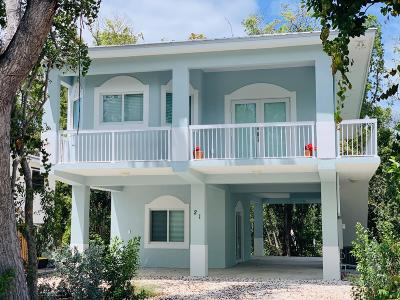 Key Largo Single Family Home For Sale: 21 Pompano Avenue