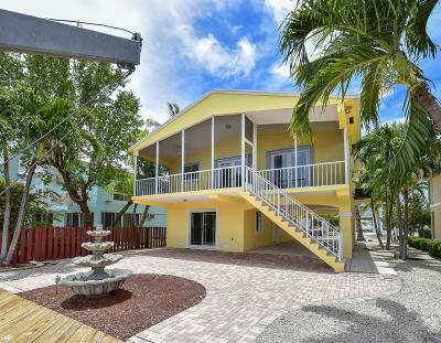 Key Largo Single Family Home For Sale: 14 Center Lane