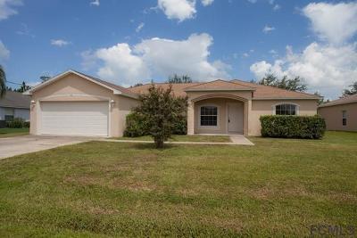 Palm Coast Single Family Home For Sale: 14 Lamar Lane