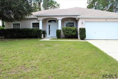 Palm Coast FL Single Family Home For Sale: $187,500