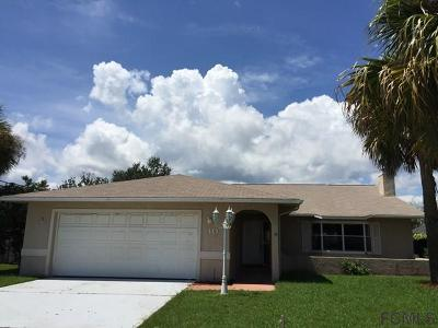Palm Coast FL Single Family Home For Sale: $240,000