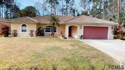 Palm Coast FL Single Family Home For Sale: $271,900