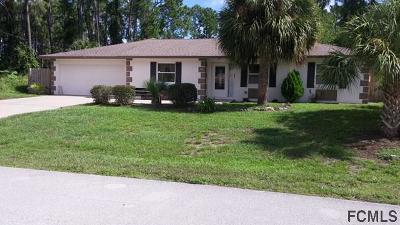 Palm Coast Single Family Home For Sale: 59 Pony Express Drive