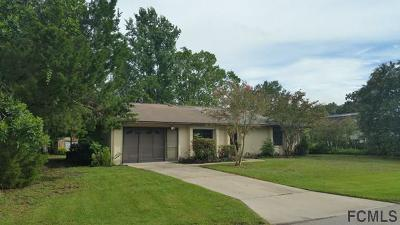 Palm Coast FL Single Family Home For Sale: $118,700