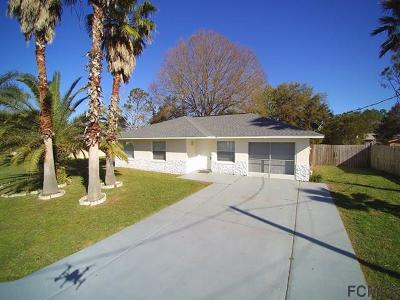 Palm Coast FL Single Family Home For Sale: $134,950
