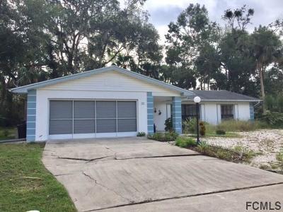 Palm Coast FL Single Family Home For Sale: $139,900
