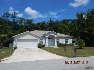Palm Coast FL Single Family Home For Sale: $185,000