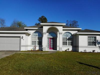 Palm Coast Single Family Home For Sale: 17 Roller Lane