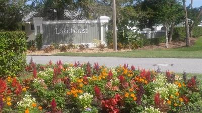 Palm Coast Condo/Townhouse For Sale: 40 Lake Forest Pl #40